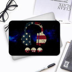 America tunes Blue sprayed  Both side printed Laptop Sleeves