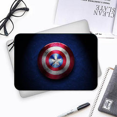 Shining america flag Capt. AmericaBoth side printed Laptop Sleeves