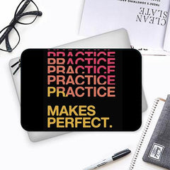 Practise makes perfect design Both side printed Laptop Sleeves