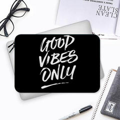Good vibes only design Both side printed Laptop Sleeves