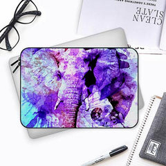 Colorful elephantBoth side printed Laptop Sleeves