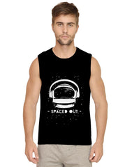 Spaced out by music design Mens Vests