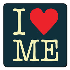 I love myself design  set of 4 printed coasters