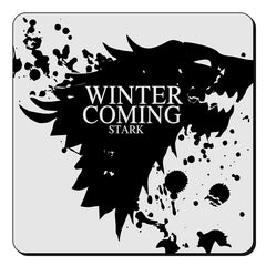 GOT Winter is coming design  set of 4 printed coasters