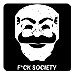 Fuck society design  set of 4 printed coasters