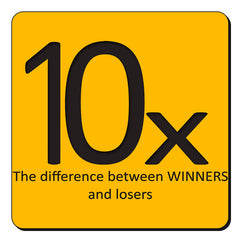 Difference between losers ans winners design set of 4 printed coasters