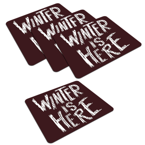 Winter is here Game of Thrones design  set of 4 printed coasters