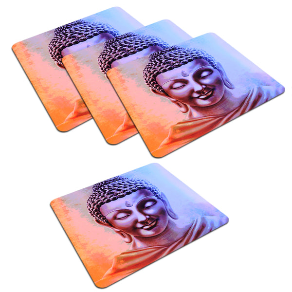 Lord Buddha design  set of 4 printed coasters