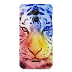Colourful Tiger Design Coolpad Note 3 hard plastic printed back cover