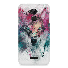 Splashed colours Wolf Design Coolpad Note 3 hard plastic printed back cover