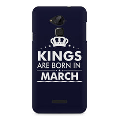 Kings are born in March design    Coolpad Note 3 hard plastic printed back cover