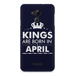 Kings are born in April design    Coolpad Note 3 hard plastic printed back cover