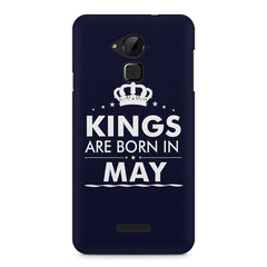 Kings are born in May design    Coolpad Note 3 hard plastic printed back cover