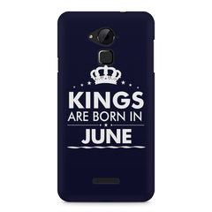 Kings are born in June design    Coolpad Note 3 hard plastic printed back cover