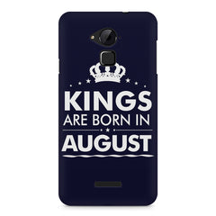 Kings are born in August design    Coolpad Note 3 hard plastic printed back cover