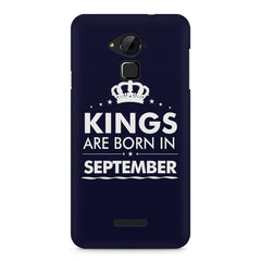 Kings are born in September design    Coolpad Note 3 hard plastic printed back cover