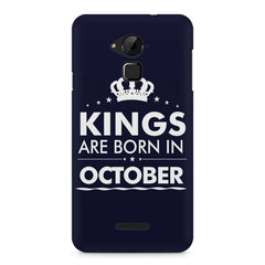 Kings are born in October design    Coolpad Note 3 hard plastic printed back cover