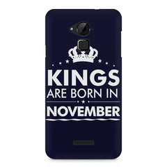 Kings are born in November design    Coolpad Note 3 hard plastic printed back cover