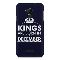 Kings are born in December design    Coolpad Note 3 hard plastic printed back cover