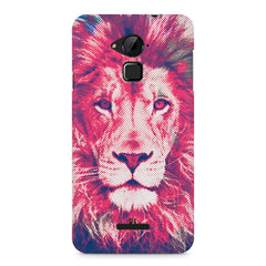 Zoomed pixel look of Lion design Coolpad Note 3 hard plastic printed back cover