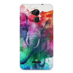 colourful portrait of Elephant Coolpad Note 3 hard plastic printed back cover