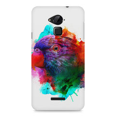 Colourful parrot design Coolpad Note 3 hard plastic printed back cover