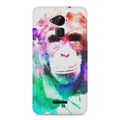 Colourful Monkey portrait Coolpad Note 3 hard plastic printed back cover