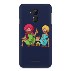 Punjabi sardars with chicken and beer avatar Coolpad Note 3 hard plastic printed back cover