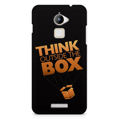 Think Outside The Box- Entrepreneur Lines design,  Coolpad Note 3 Lite printed back cover