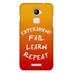 Experiment Fail Learn Repeat - Entrepreneur Quotes design,  Coolpad Note 3 Lite printed back cover