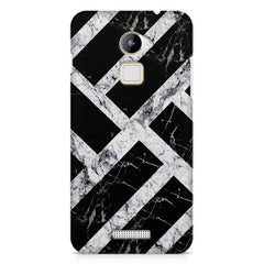 Black & white rectangular bars  Coolpad Note 3 Lite printed back cover