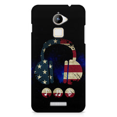 America tunes Blue sprayed  Coolpad Note 3 Lite printed back cover