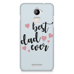 Best Dad Ever Design Coolpad Note 3 Lite hard plastic printed back cover