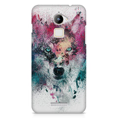 Splashed colours Wolf Design Coolpad Note 3 Lite hard plastic printed back cover