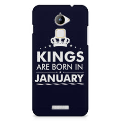 Kings are born in January design    Coolpad Note 3 Lite hard plastic printed back cover