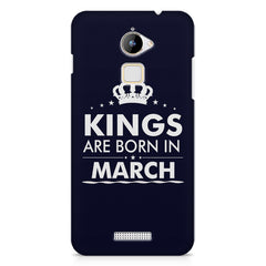 Kings are born in March design    Coolpad Note 3 Lite hard plastic printed back cover