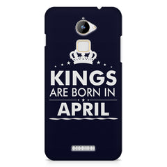 Kings are born in April design    Coolpad Note 3 Lite hard plastic printed back cover