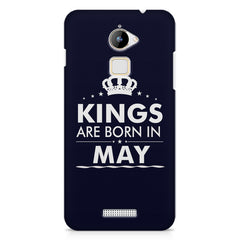 Kings are born in May design    Coolpad Note 3 Lite hard plastic printed back cover