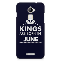 Kings are born in June design    Coolpad Note 3 Lite hard plastic printed back cover