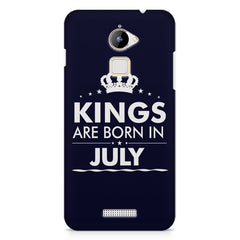 Kings are born in July design    Coolpad Note 3 Lite hard plastic printed back cover