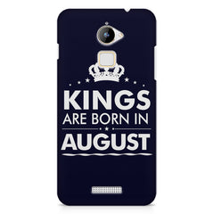 Kings are born in August design    Coolpad Note 3 Lite hard plastic printed back cover