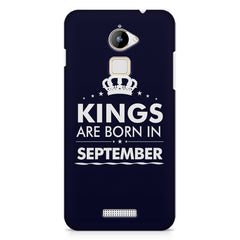 Kings are born in September design    Coolpad Note 3 Lite hard plastic printed back cover
