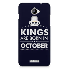 Kings are born in October design    Coolpad Note 3 Lite hard plastic printed back cover