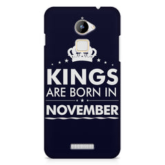 Kings are born in November design    Coolpad Note 3 Lite hard plastic printed back cover
