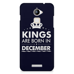 Kings are born in December design    Coolpad Note 3 Lite hard plastic printed back cover