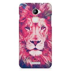 Zoomed pixel look of Lion design Coolpad Note 3 Lite hard plastic printed back cover