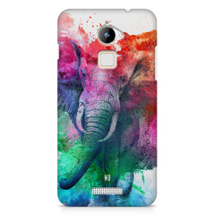 colourful portrait of Elephant Coolpad Note 3 Lite hard plastic printed back cover