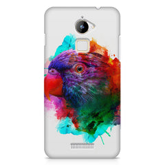 Colourful parrot design Coolpad Note 3 Lite hard plastic printed back cover