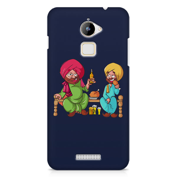 Punjabi sardars with chicken and beer avatar Coolpad Note 3 Lite hard plastic printed back cover