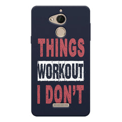 Things Workout I Don'T design,  Coolpad note 5 printed back cover